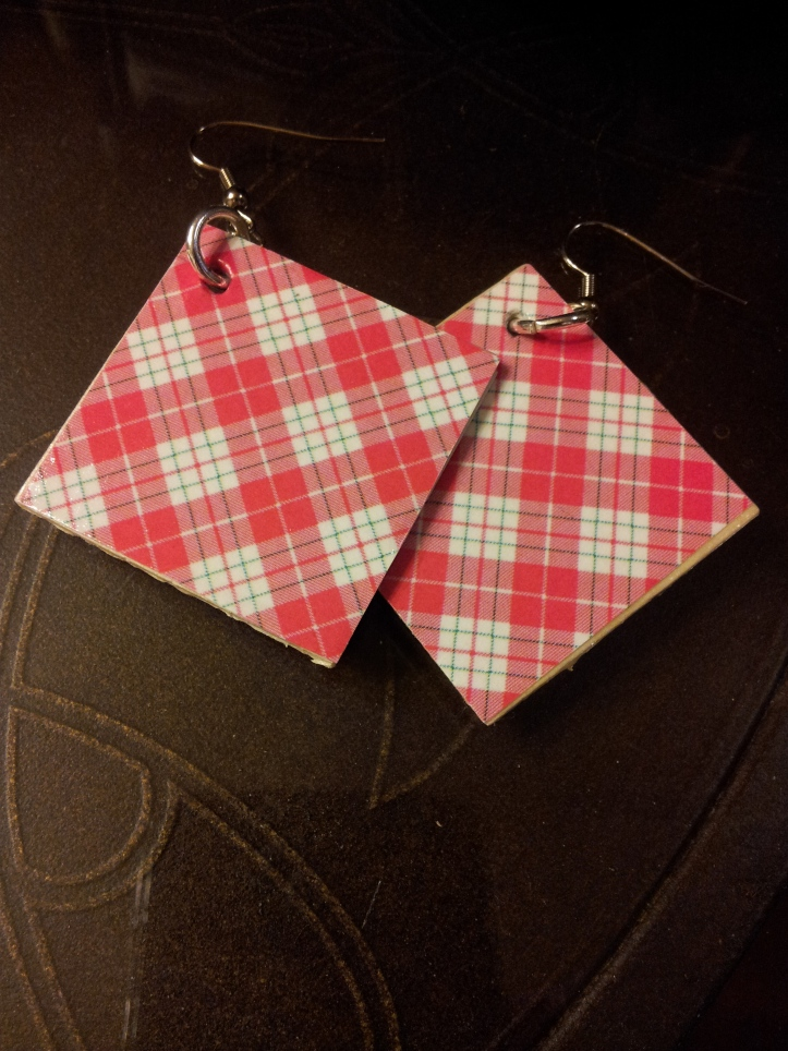 plaid earrings