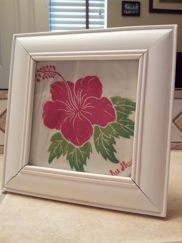 Day 93-Framed vintage hanky