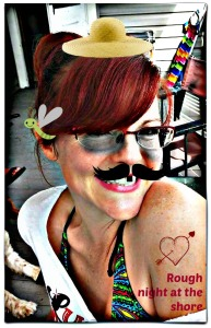 Mustache and other fun stuff added to photo in Picmonkey.com
