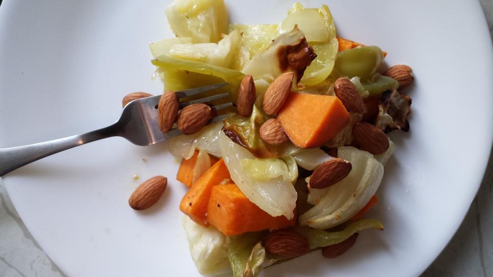 vegan roasted cabbage