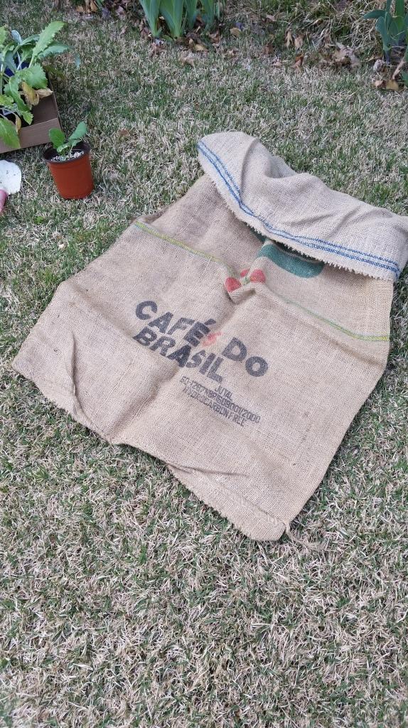 burlap coffee bag