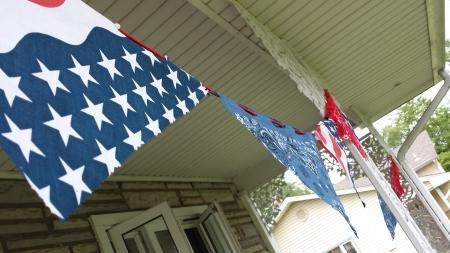 DIY bandanna banner